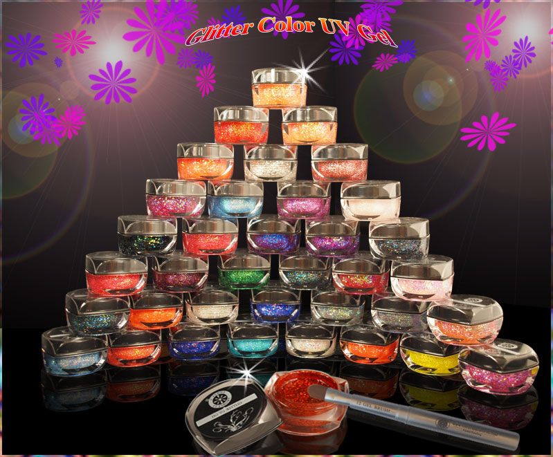 50 Color Glitter UV Gel
